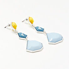 Buy John Lewis Abstract Drop Earrings, Blue/Yellow Online at johnlewis.com