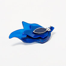 Buy John Lewis Triple Leaf Brooch, Deep Blue Online at johnlewis.com