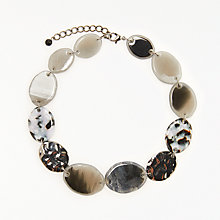 Buy John Lewis Beaded Short Necklace, Grey Online at johnlewis.com