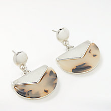 Buy John Lewis Half Circle Drop Earrings, Silver/Tortoise Online at johnlewis.com