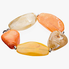 Buy John Lewis Chunky Bead Stretch Bracelet, Yellow/Multi Online at johnlewis.com
