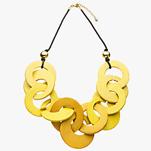 Buy John Lewis Chunky Wood Hoop Necklace, Yellow Online at johnlewis.com