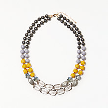 Buy John Lewis Double Layer Beaded Necklace, Multi Online at johnlewis.com