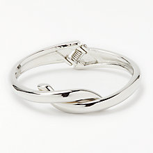 Buy John Lewis Twist Knot Open Bangle, Silver Online at johnlewis.com