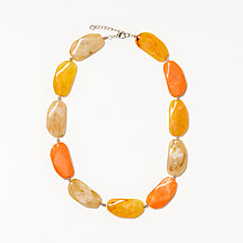 Buy John Lewis Asymmetrical Bead Statement Necklace, Yellow Online at johnlewis.com
