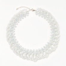 Buy John Lewis Sparkle Bead Crystal Collar Necklace, Light Blue Online at johnlewis.com
