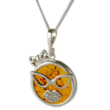 Buy Be-Jewelled Amber Carnival Cat Pendant Necklace, Cognac Online at johnlewis.com