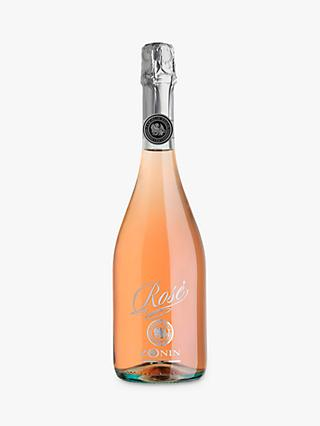Zonin Brut Rose Sparkling Wine, 75cl