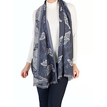 Buy Chesca Butterfly Printed Scarf, Blue/Multi Online at johnlewis.com