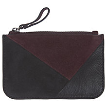Buy Mint Velvet Leather Asymmetric Colour Block Coin Purse, Bordeaux Online at johnlewis.com
