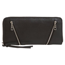 Buy Mint Velvet Double Zip Front Leather Purse Online at johnlewis.com