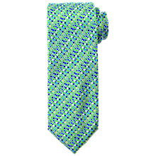 Buy John Lewis Micro Square Print Woven Silk Tie, Green Online at johnlewis.com