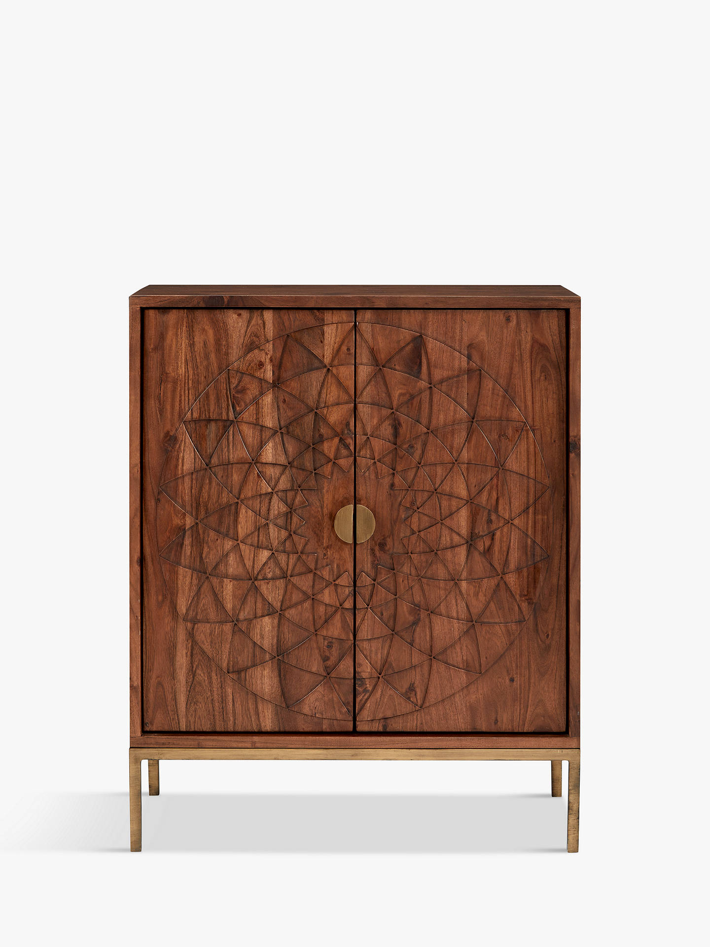 Buy John Lewis & Partners Array Storage Cabinet, Dark Brown Online at johnlewis.com