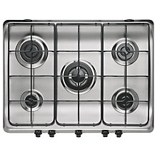 Buy Indesit PIM750AST IX Gas Hob, Stainless Steel Online at johnlewis.com