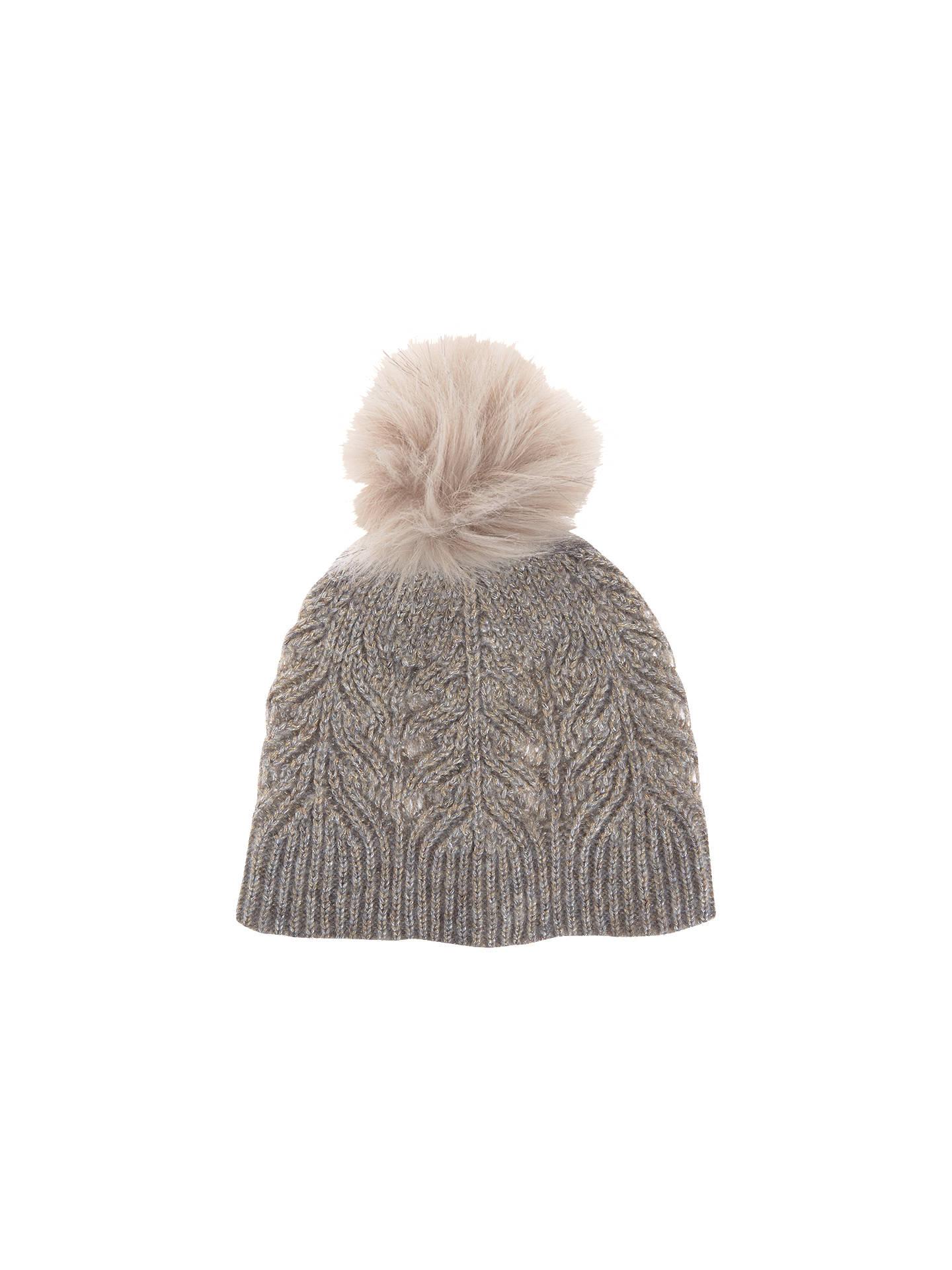846e7a9804c Buy Mint Velvet Metallic Cable Knit Hat