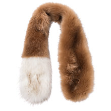 Buy French Connection Roslyn Stole Faux Fur Scarf, Butter Rum/Winter White Online at johnlewis.com