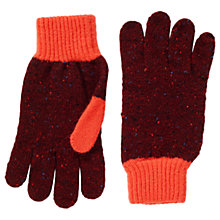 Buy Jigsaw Iona Wool Colour Pop Gloves, Warm Spice Online at johnlewis.com
