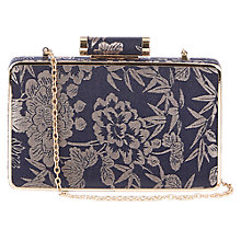 Buy Oasis Jacquard Box Clutch, Navy Online at johnlewis.com