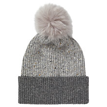 Buy Jigsaw Iona Donegal Pom Hat, Grey Online at johnlewis.com