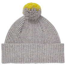 Buy Jigsaw Barra Colour Pop Wool Pom Hat, Grey Online at johnlewis.com