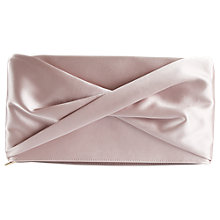 Buy Reiss Beau Satin Knot Evening Bag Online at johnlewis.com