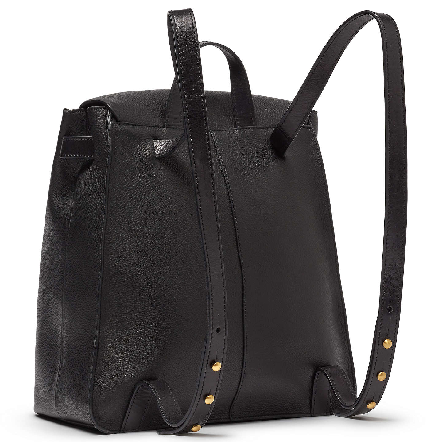 BuyJohn Lewis Rhea Leather Backpack, Black Online at johnlewis.com