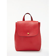 Buy John Lewis Rhea Leather Mini Backpack, Red Online at johnlewis.com