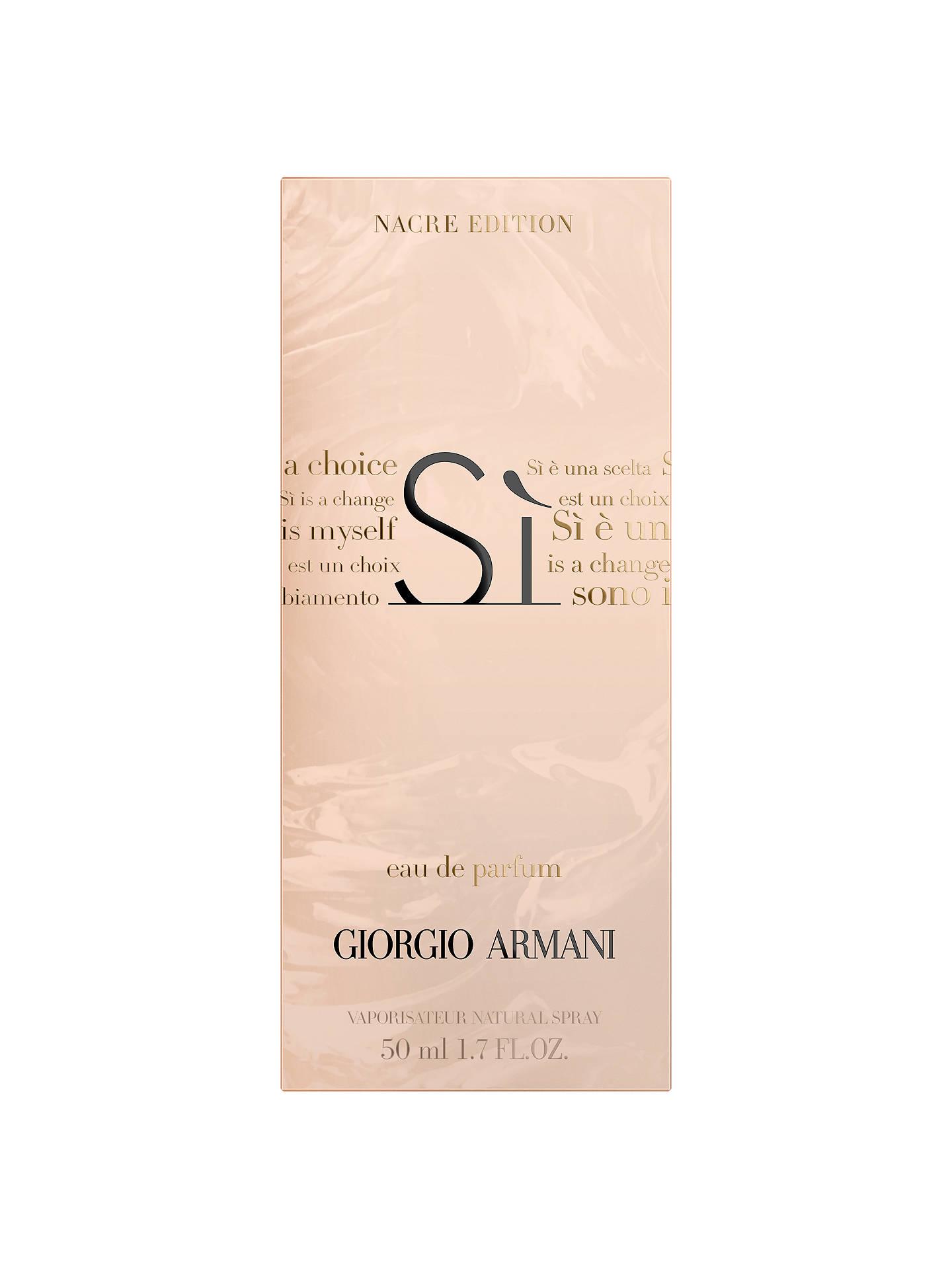 Giorgio Armani Si Nacre Sparkling Limited Edition Eau De Parfum At