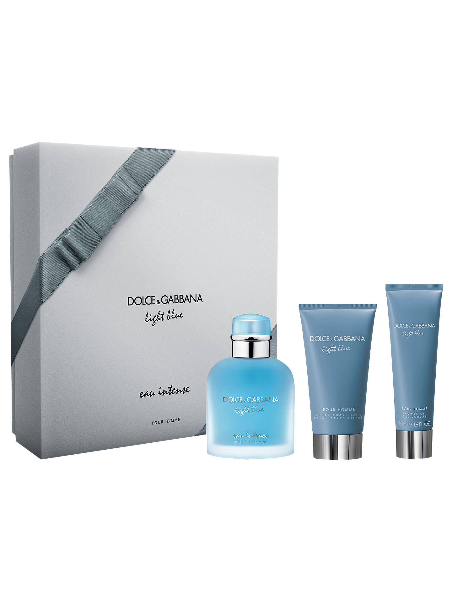 BuyDolce   Gabbana Light Blue Eau Intense Pour Homme 100ml Eau de Parfum  Fragrance Gift Set 4b8556348751