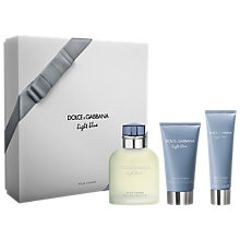 Buy Dolce & Gabbana Light Blue Pour Homme 125ml Eau de Toilette Fragrance Gift Set Online at johnlewis.com