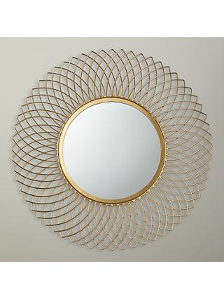 John Lewis Partners Sita Wire Mirror Dia 66cm