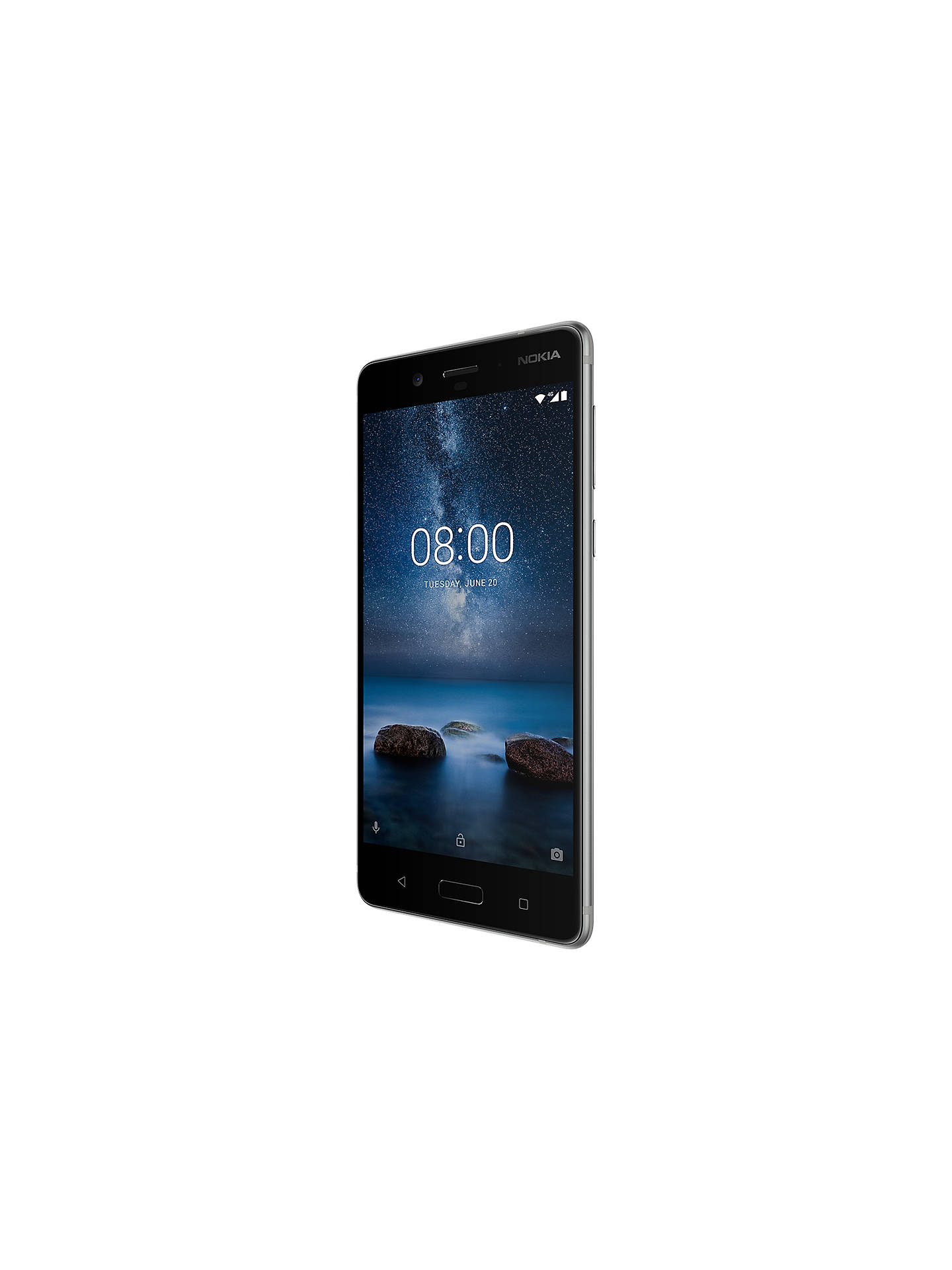 "Buy Nokia 8 Smartphone, Android, 5.3"", 4G LTE, SIM Free, 64GB, Steel Online at johnlewis.com"