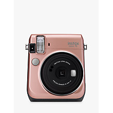 Buy Fujifilm Instax Mini 70 Instant Camera With 10 Shots Of Film, Selfi Mode, Built-In Flash & Hand Strap, Rose Gold Online at johnlewis.com