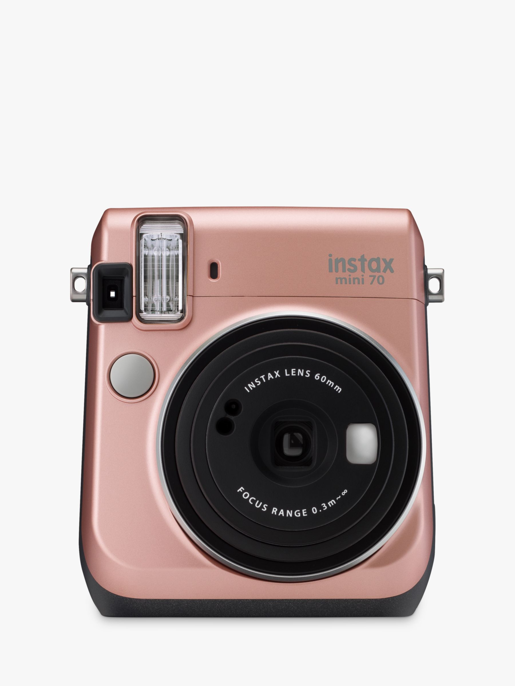 Fujifilm Fujifilm Instax Mini 70 Instant Camera With 10 Shots Of Film, Selfi Mode, Built-In Flash & Hand Strap, Rose Gold