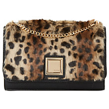 Buy Dune Elfur Clutch Bag, Leopard Online at johnlewis.com
