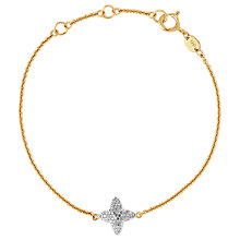 Buy Links of London 18ct Gold Vermeil Splendour Diamond Pave Bracelet, Gold Online at johnlewis.com