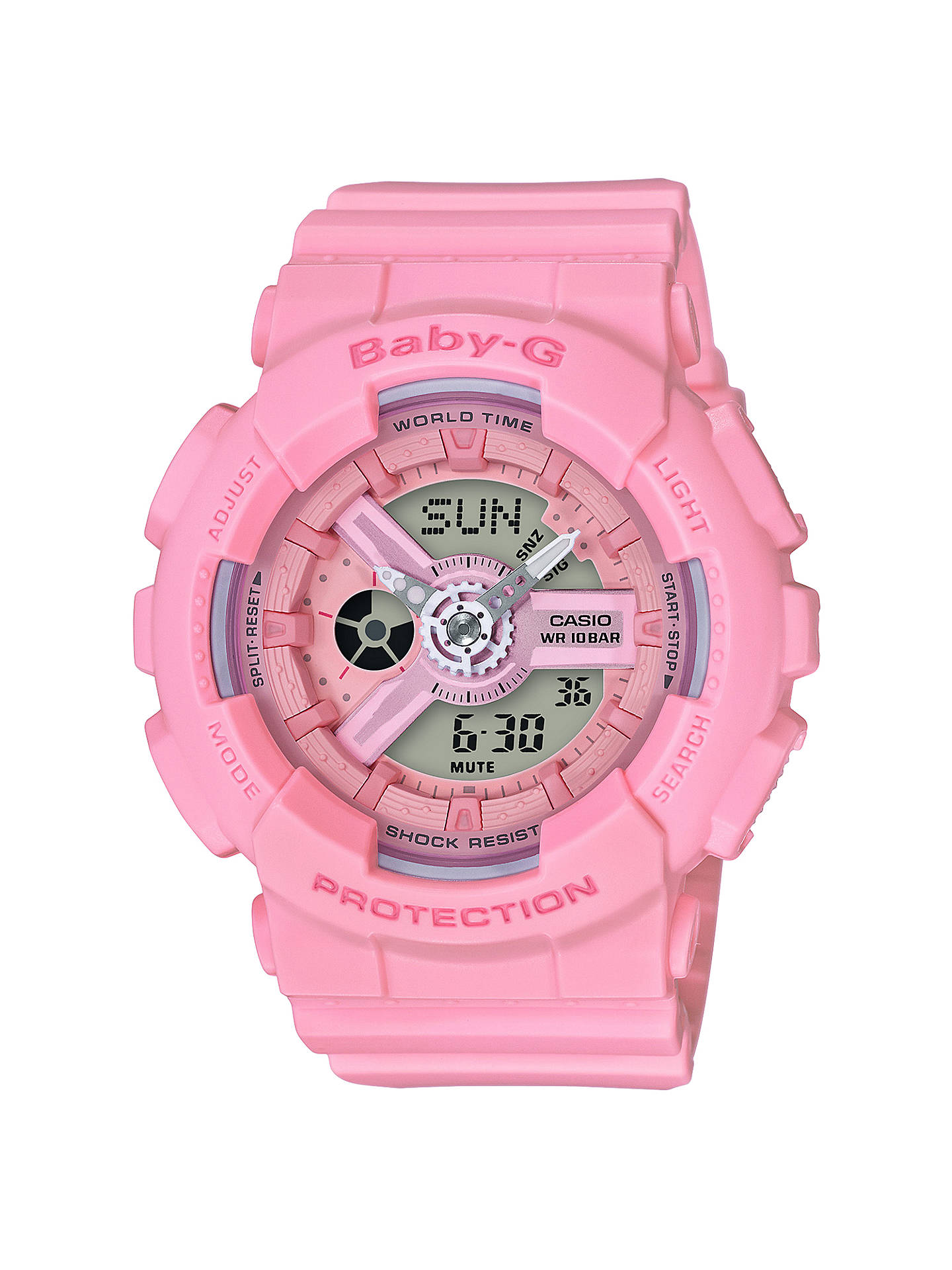 3247b56df Buy Casio Women's Baby G BA-110 Quartz Resin Strap Watch, Pink Online at