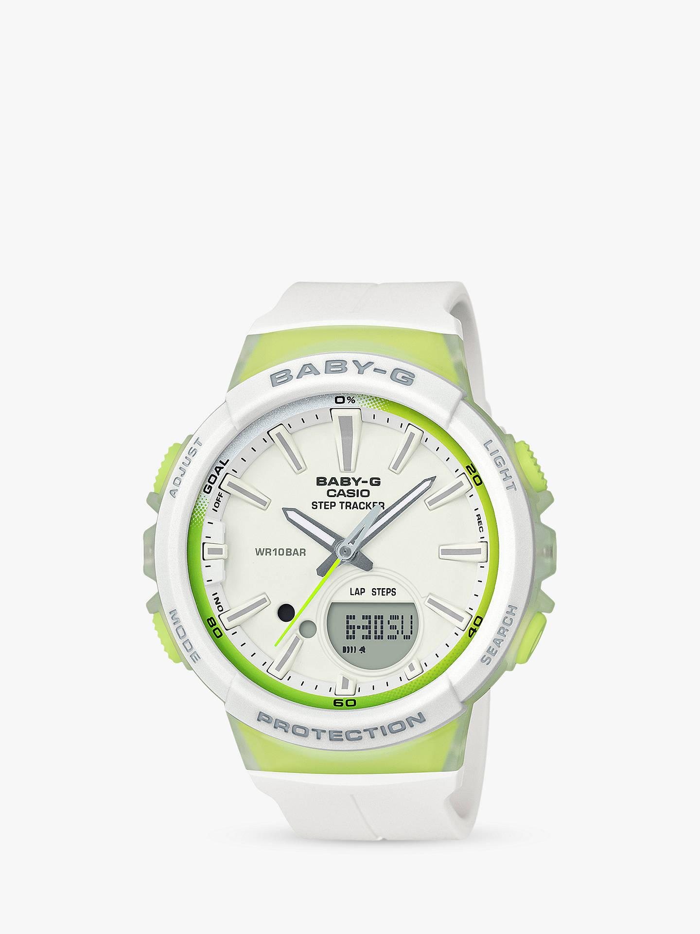 bc48449e65f5 Buy Casio BGS-100-7A2ER Women s Baby G Quartz Step Tracker Resin Strap Watch  ...