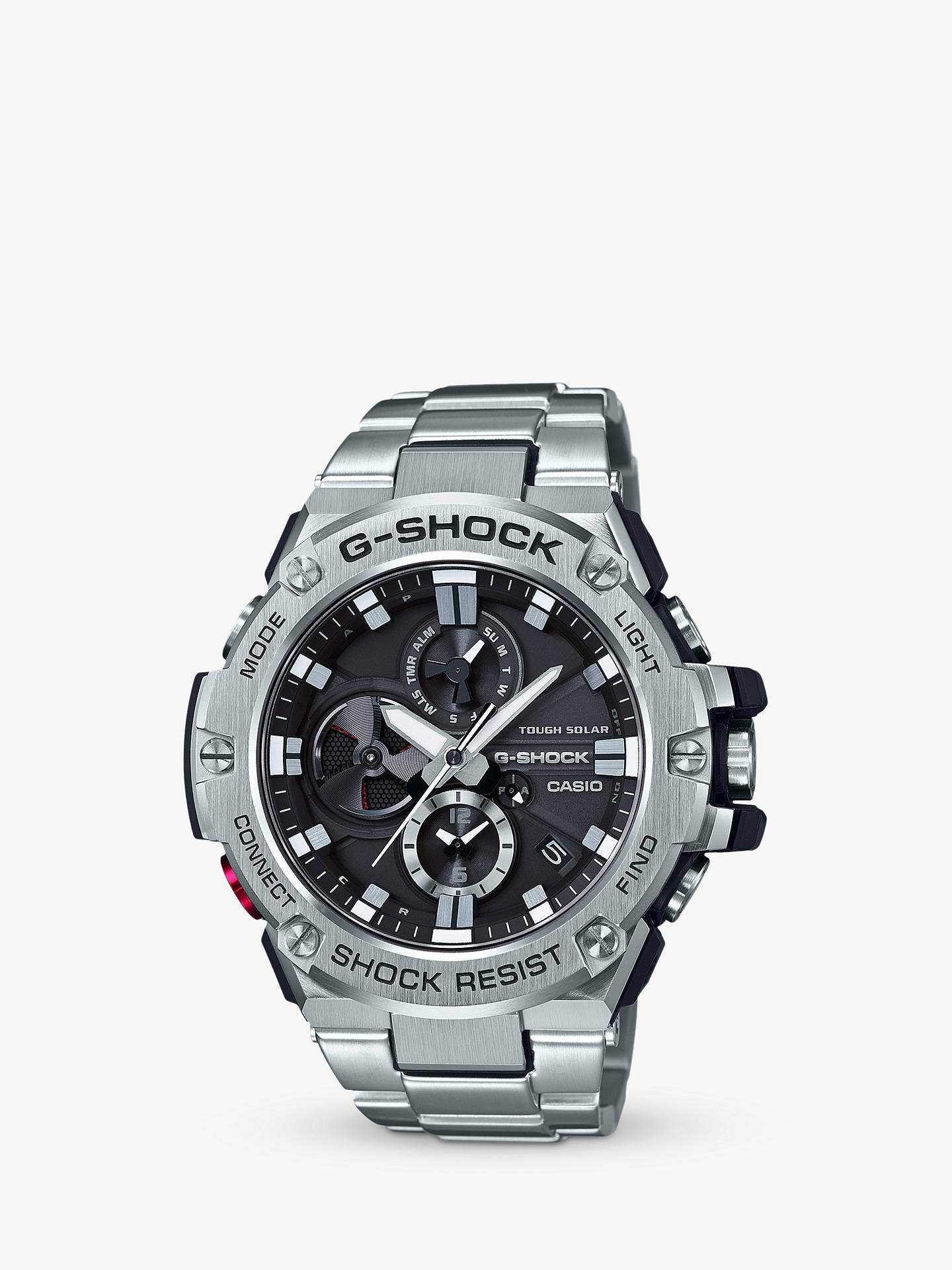 ef58750014 Buy Casio GST-B100D-1AER Men's G-Shock Chronograph Day Date Bracelet Strap  ...