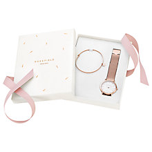 Buy ROSEFIELD TRWR-X173 Women's Bracelet Strap Watch and Bangle Gift Set, Rose Gold/White Online at johnlewis.com