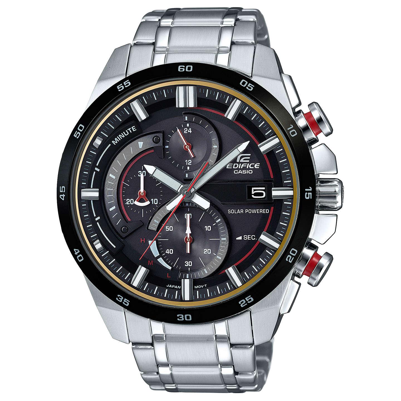 New Latest Casio Eqs-600db-1a4uef Edifice Solar Chronograph Date Bracelet Strap Watch Silver/Black for Men Sale Online On Sale