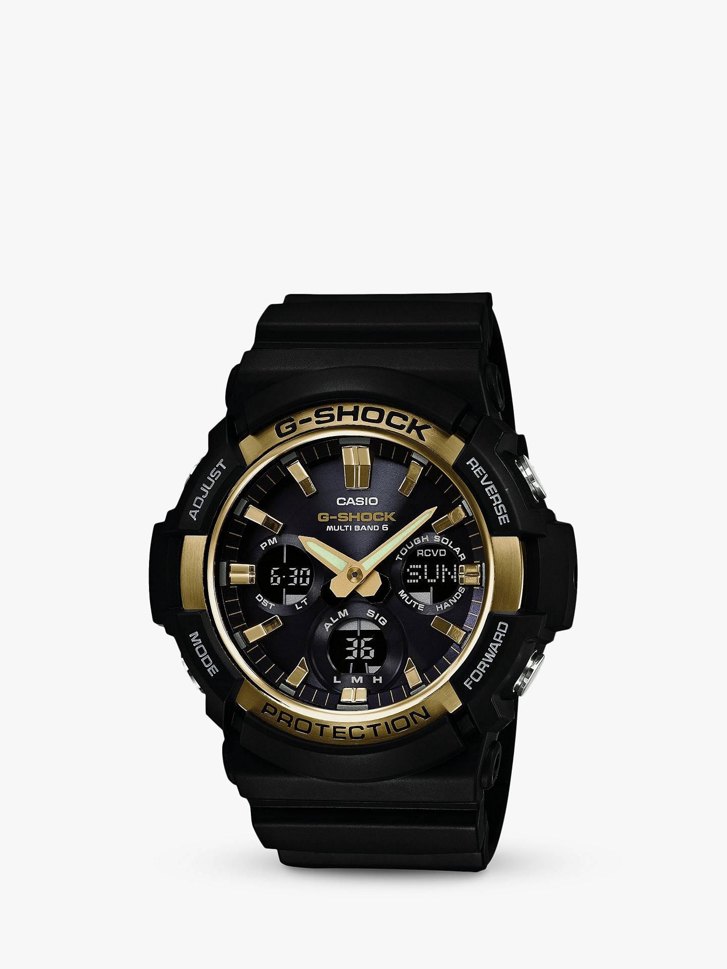bfef7b72b Casio GAW-100G-1AER Men's G-Shock Day Resin Strap Watch, Black ...