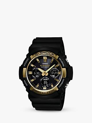 Casio GAW-100G-1AER Men's G-Shock Day Resin Strap Watch, Black/Midnight Blue