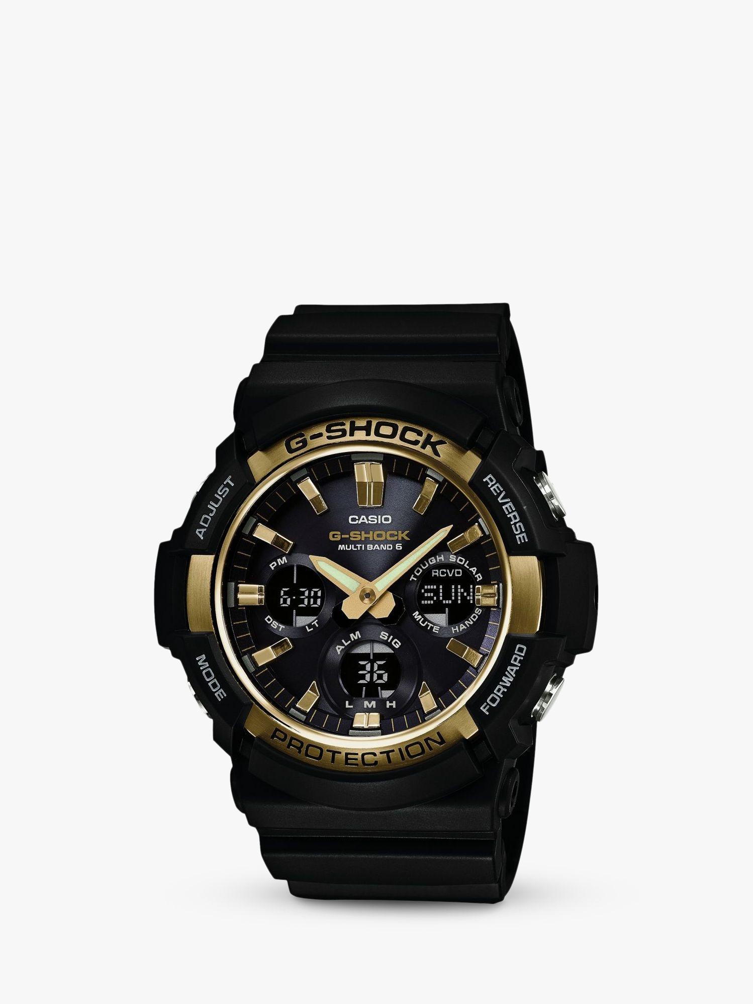 Casio Casio GAW-100G-1AER Men's G-Shock Day Resin Strap Watch, Black