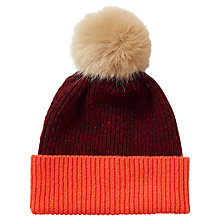 Buy Jigsaw Iona Donegal Pom Hat, Warm Spice Online at johnlewis.com