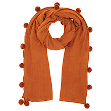 Buy Jigsaw Solange Wool Pom Pom Scarf Online at johnlewis.com