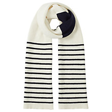 Buy Jigsaw Islay Wool Breton Striped Pom Scarf Online at johnlewis.com