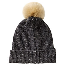 Buy Jigsaw Harris Donegal Pom Hat Online at johnlewis.com