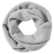Buy Jigsaw Serena Cashmere Ribbed Snood, Haze Grey Online at johnlewis.com