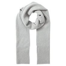 Buy Jigsaw Serena Cashmere Ribbed Scarf, Haze Grey Online at johnlewis.com